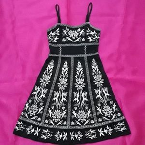 INC Concepts Black Embroidered Dress